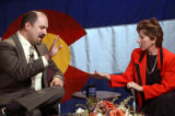 (DENVER, Colo., October 11, 2004) Jon Caldara debates FasTracks worth with Debra A. Baskett taped...