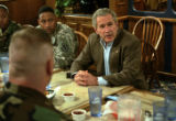 Bush visits Denver for a fundraising luncheon for Rick O'Donnell who is running as the Republican...