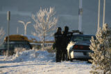 Police respond to the New Life Church in Colorado Springs after a gunman entered the church and...