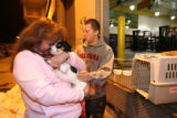 (DLM4214) - Vonda Lundstrom, 44, and her son, Mark Lundstrom,16, are reunited with their dog Daisy...