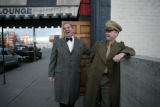 William McKinley talks with Dwight D. Eisenhower outside of the P.S. Lounge. Both are members of...