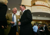 Dick Notebaert, CEO of Quest Communications, addressed the University of Denver's Daniels College...