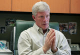 Dennis J. O'Malley, Craig Hospital president, talks in his office at Craig Hospital Monday March...