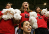 Eaglecrest students background from left- Katie Sedlak, 16, Mariah Yslas, 15, Nika Girenko, 15,...