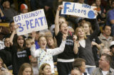 134 (5A) Fan for the Highlands Ranch Falcons chear on their team as the take on the Regis Jesuit...