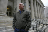 DM0779   Brian Rohrbough leaves the Byron White Courthouse in Denver, Colo. Monday, March 17,...