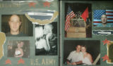 295 COPY PHOTOGRAPHs: Pictures from an album of Amber and her husband Sgt. Ryan John Baum.  Rayn...