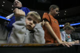 DM0516   Drake Dagli , 4, of Lakewood, Colo. looks bummed after waiting unsuccessfully to get an...