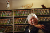 MJM476 Mary Buhr (cq),77, who works in the accounts receivable department at Wheat Ridge Animal...