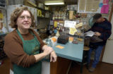 Granby, Colo.-October 14,2004- Jill Miles, owner of Grand River Coffee Company , faces new...