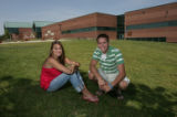 Lindsay Hayden (cq), left, and Cameron Durand (cq), at Standley Lake High School, Friday...