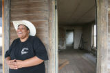 LaWanna Larson, head of the Black American West Museum, stands on the porch of O.T. Jackson's...
