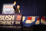 (9/30/2004) Denver, Colorado-Vice President Dick Cheney leaves the stage after his remarks on the...
