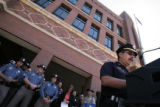 (136) Denver Police Captain Joe Padilla, speaks at a press conference Wednesday, July 2, 2008, at...