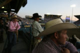 MJM1216 Rodeo contestants prepare to take part in the semi-finals of the 89th annual Reno Rodeo...