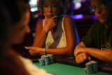 MJM1236 Francine Moore (cq) plays poker at the Peppermill Hotel and Casino in Reno, Nev. Friday...