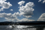 (PG04079) People boat on Grand Lake on Thursday, July 3, 2008. Colorado, for the first time in...