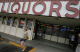 DM0380  Business at Argonaut Liquors was steady all day on the first day of Sunday sales in...