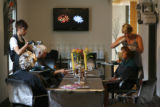 Steve Trujillo's salon, El Salon.  Home Front Open House on hairstylist Steve Trujillo.   July 11,...