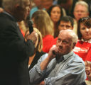 Republican Presidential candidate, John McCain, left talks, while Dr. Curt Schmidt (cq) of...