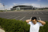 Rodrigo Espinoza talks about the move of the Obama Speech to Invesco Stadium on his walk home on...