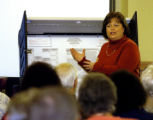 (AURORA Colo., October 18, 2004)  Mary Whittey, Arapahoe Chief Deputy, goes over the voting...