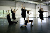 "Artists of Colorado Ballet practice ""Yes, Virginia, Another Piano Ballet"" at the..."