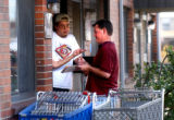 Denver, Colo., photo taken October 3, 2004-Dan Yetter (right),27, of Ault,Colo., talks to Ida...