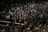 Arizona Senator John McCain takes the stage on the final day of the Republican National Convention...
