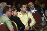 (DENVER, Colo., Oct. 5, 2004) Conference members listen during the  Hispanic real estate...