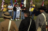 (LAKEWOOD, Colo., October 5, 2004) Spectators seemed to outnumber the soldiers as they stood line...