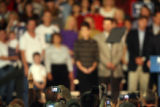 Vice-presidential candidate Sarah Palin raises emotions as she takes the stage of the Jefferson...