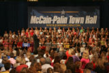 JOE0057 Republican presidential nominee John McCain at a campaign stop on Thu, Oct. 2, 2008 at...