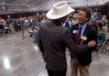 Loveland, Colo., photo taken Oct. 11, 2004-Stan Matsunaka (RIGHT), candidate for the Fourth...