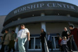 New Life Church members leave the Colorado Springs church following the 11a.m. service Sunday. ...