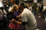 Tierney Faith Helton gives her father, Todd Helton a kiss after the Colorado Rockies defeated the...