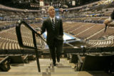 Howard Dean, Democratic National Convention Chairman attends a media walk through at the Pepsi...