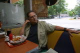 Bryan Morgan, (cq), 64, lives a little north of town but comes in for lunch and felt the attorneys...