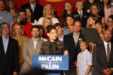 A crowd screams for the attention of vice-presidential candidate Sarah Palin as she gets close to...