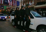 Police force move their officers on Larimer St in Denver, Colo. August 26, 2008. The streets are...