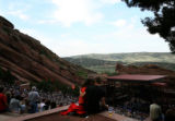 A couple kisses before the R.E.M. concert at Red Rocks Amphitheatre. Modest Mouse and The National...
