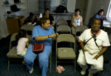 (DENVER, Colo., Aug. 24, 2004)  While residents gather for a meeting of the Local Resident...