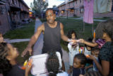 (DENVER, Colo., Aug. 21, 2004)  After making his rounds in Lincoln Park South, Steve Smith gives...