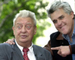 LA113 - ** FILE ** Comedian and actor Rodney Dangerfield, left, is acknowledged by television talk...