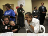 "Barack Obama makes voter contact phone calls from the ""Obama for President"" office in..."