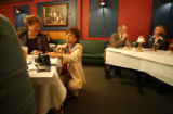 Patsy Ramsey campaigns for her husband John Ramsey at the Northern Michigan Republicans luncheon....