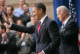 US President Barack Obama signs the $787 billion American Recovery and Reinvestment Act recovery...