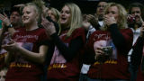 Nicole and Kendra Moriarty, and their mother, Lori Moriarty, watch as Berthoud wrestlers Nikko...