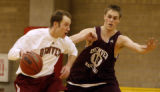 Rob Lewis #10 a DU Pioneers practices at the Richie Center on DU Campus in Denver, Colo, Monday...