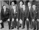 1960 AMERICAN FOOTBALL LEAGUE Front row (l to r): Robert L. Howsam, Denver; Max Winter,...